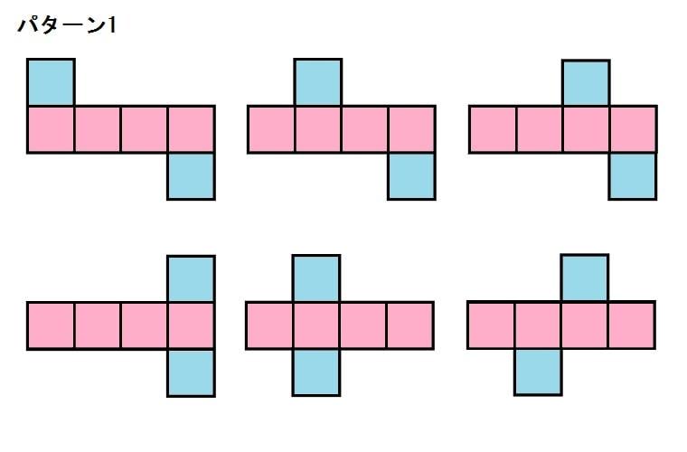 立方体の展開図パターン1